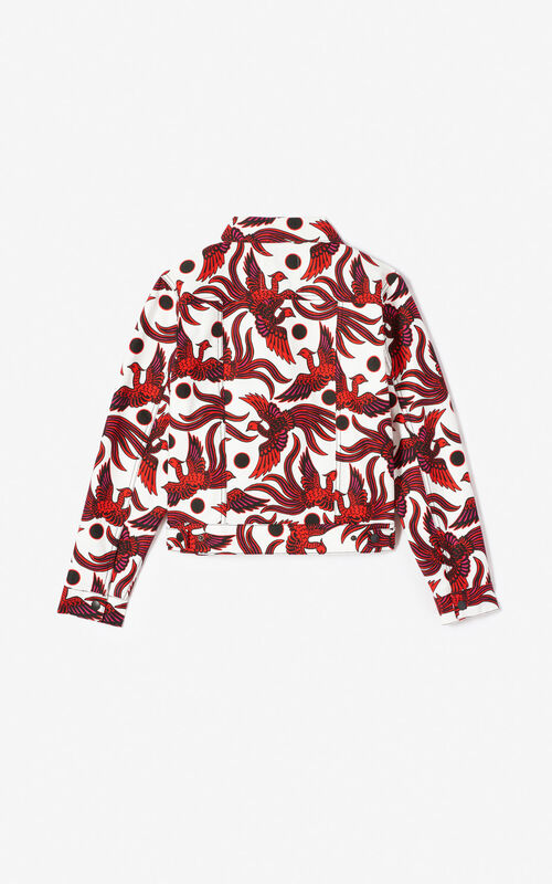 MEDIUM RED Flying Phoenix' jacket for women KENZO
