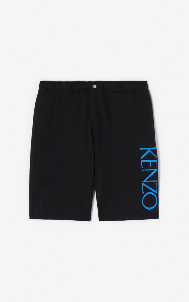 BLACK KENZO Logo swim trunks for women