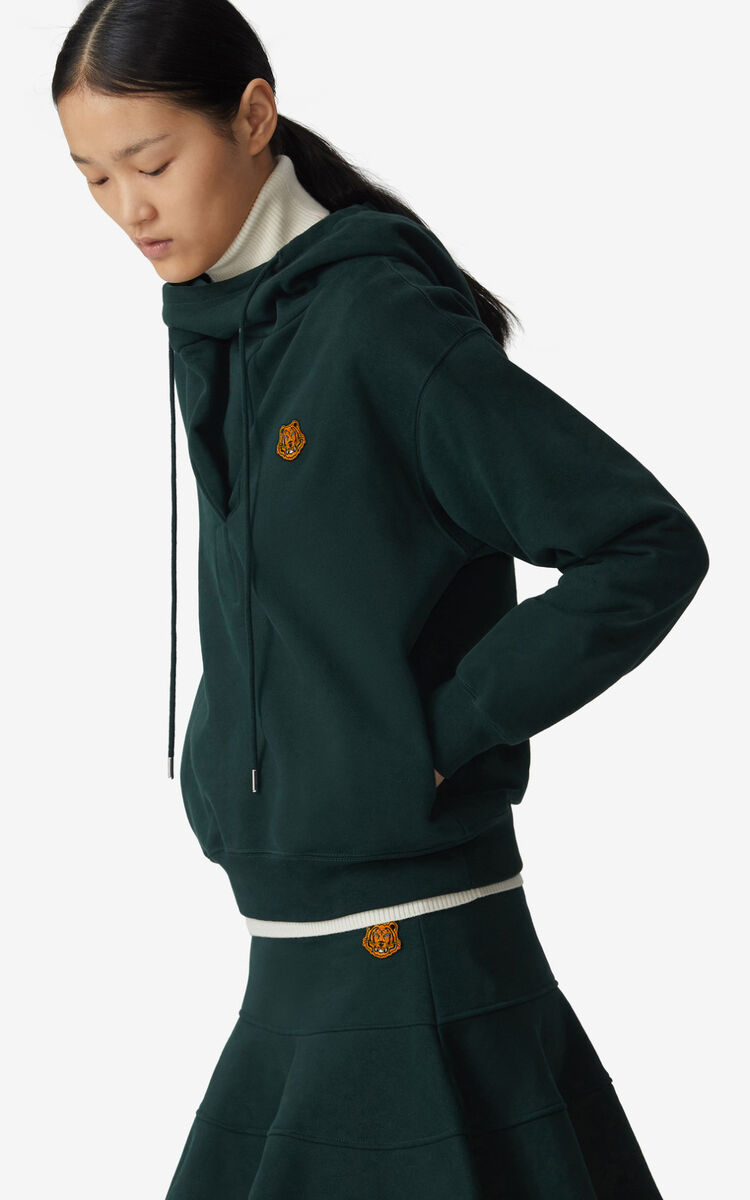 PINE Hooded cowl neck sweatshirt for women KENZO