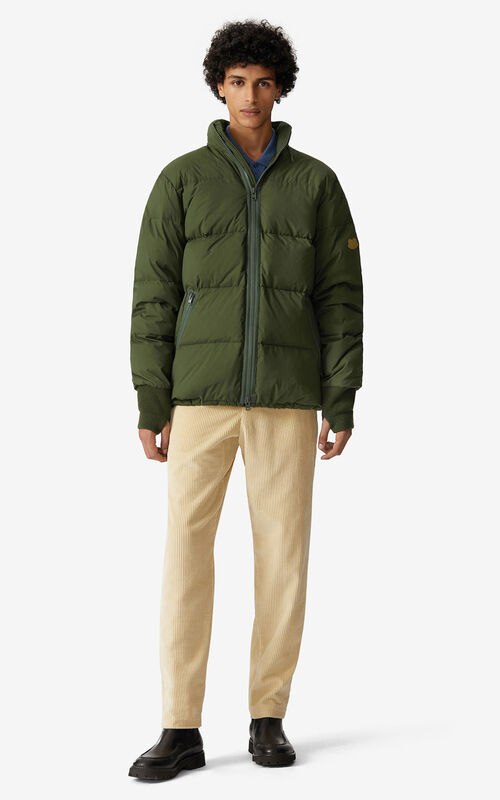 DARK KHAKI Puffer jacket for men KENZO