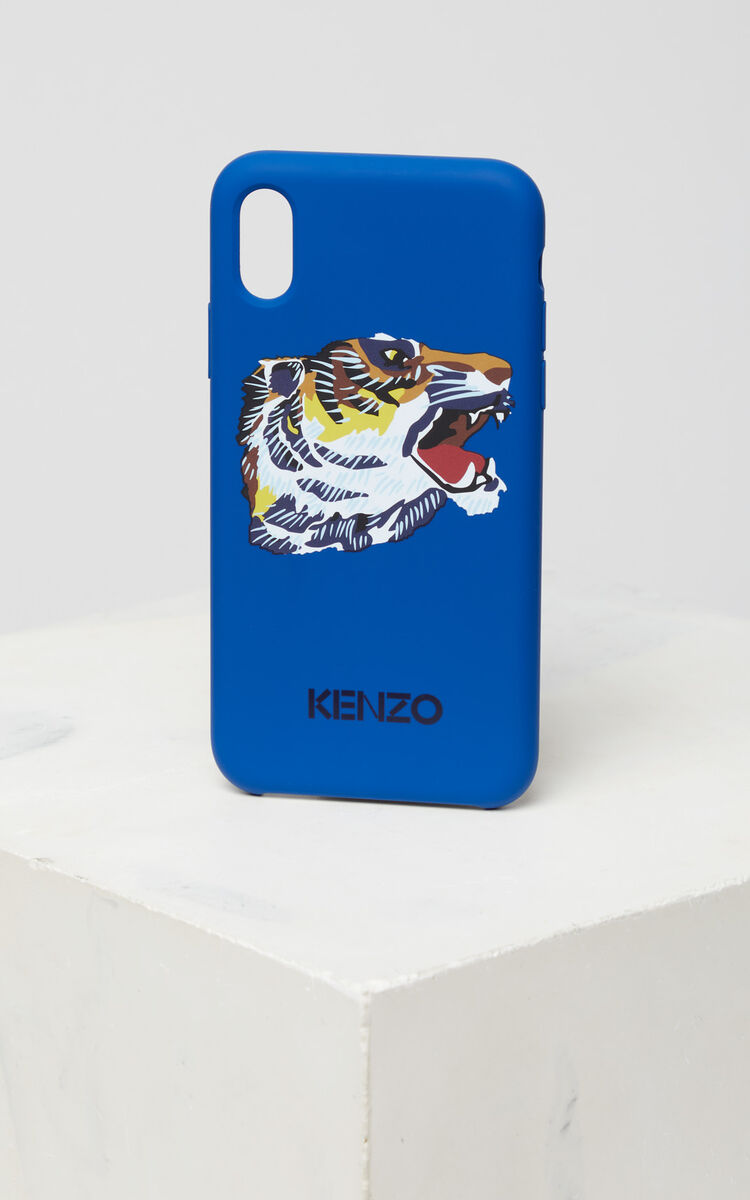 FRENCH BLUE 'Tiger Head' Iphone X case 'Go Tigers Capsule' for unisex KENZO