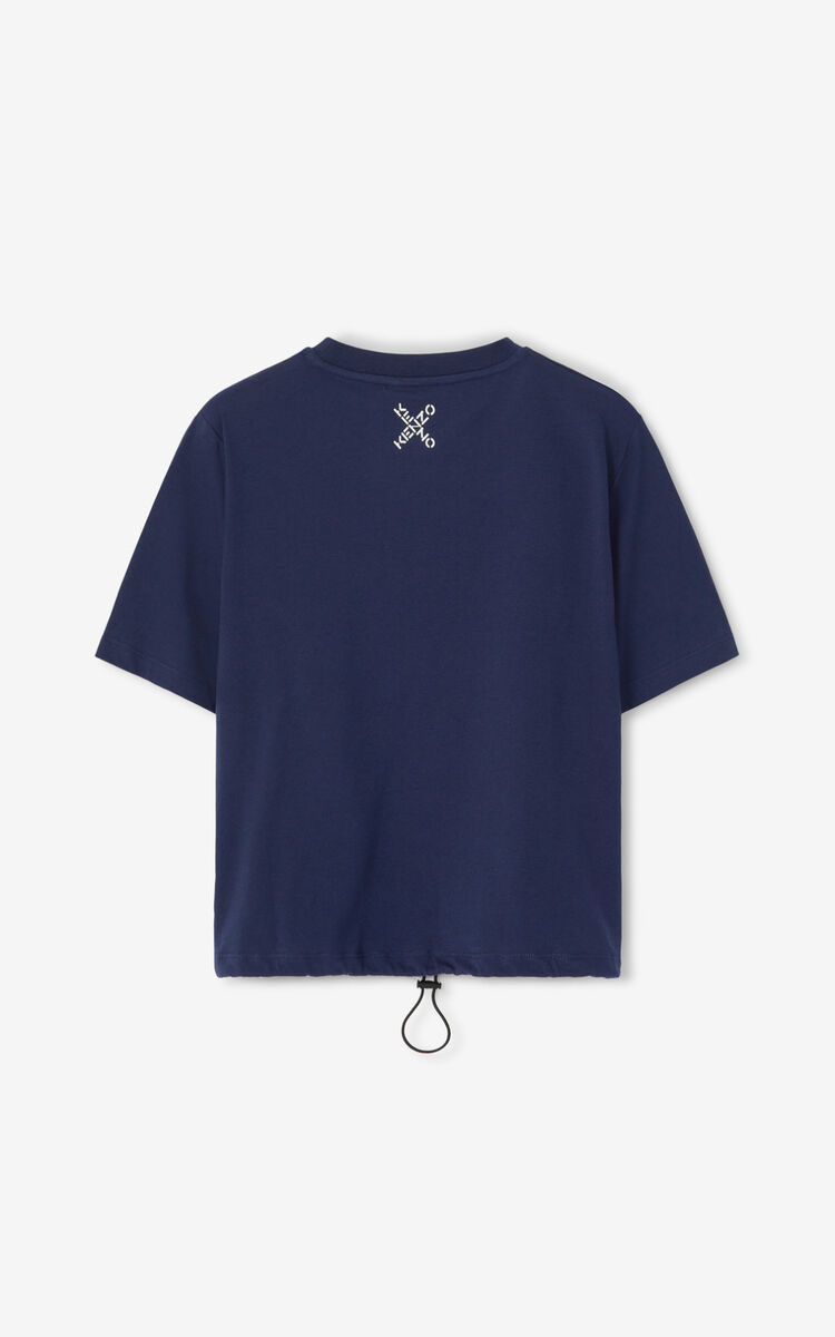 MIDNIGHT BLUE KENZO Sport boxy T-shirt for women