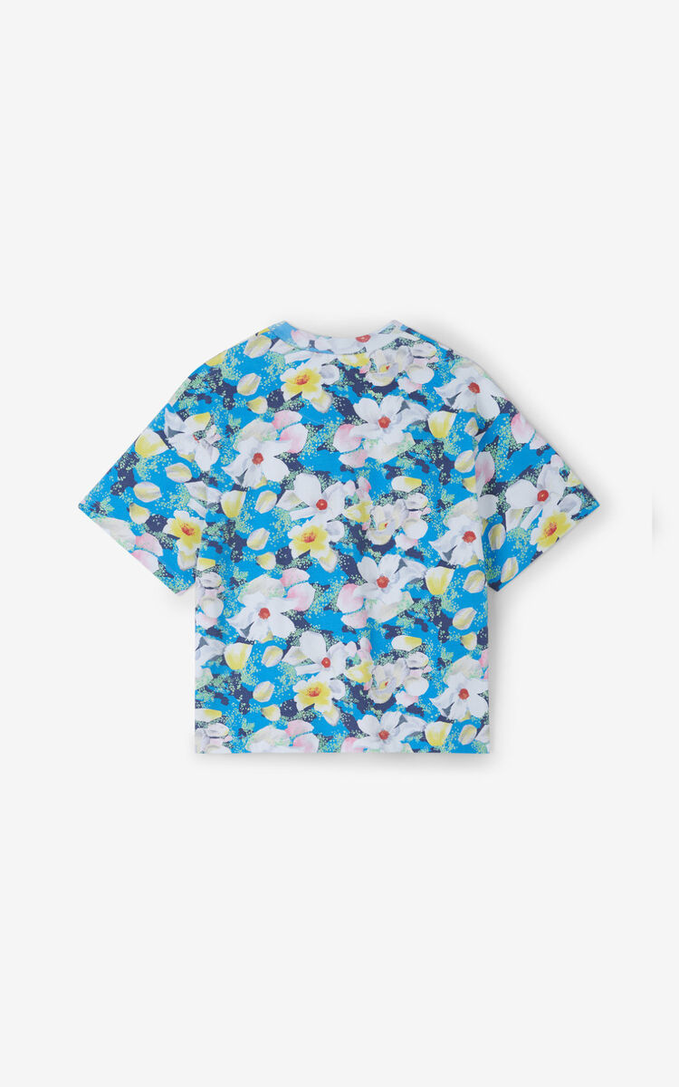 CYAN 'Gardenias' t-shirt for women KENZO
