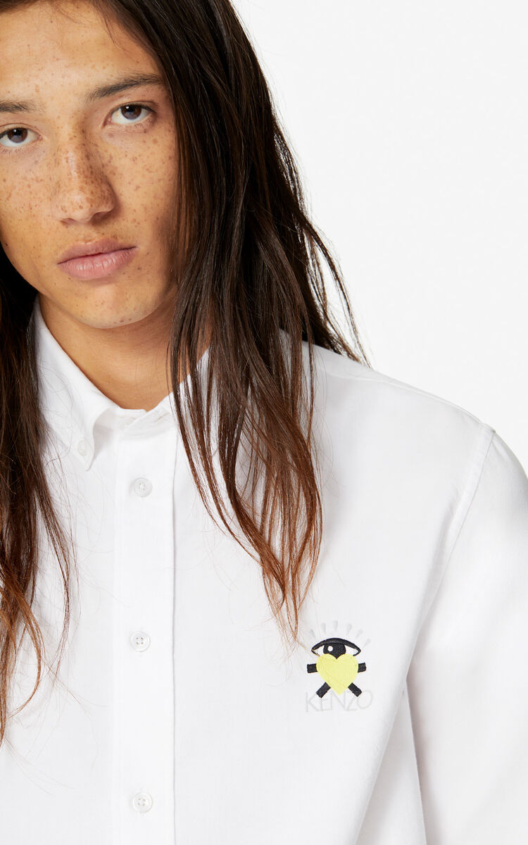 WHITE 'Cupid' casual shirt 'Capsule Back from Holidays' for men KENZO