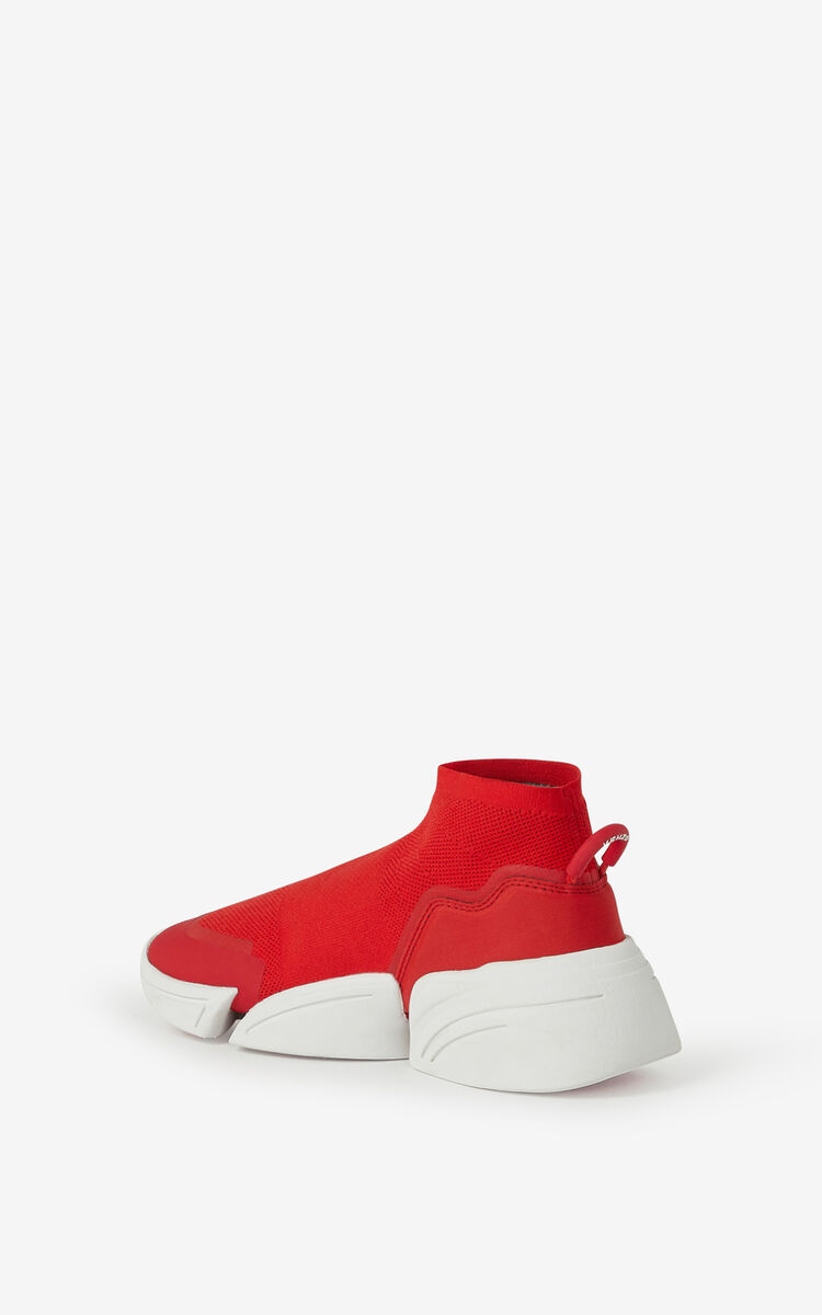 MEDIUM RED K-Sock K Logo laceless sneakers for men KENZO