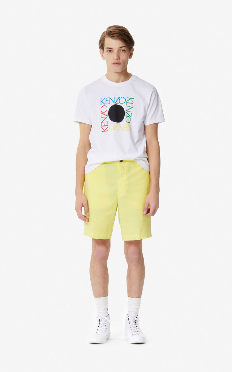 WHITE 'Square Logo' T-shirt for men KENZO