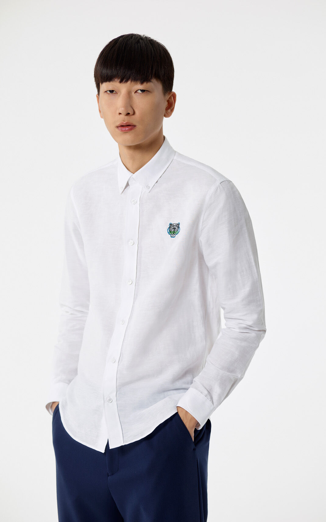 WHITE Tiger shirt for men KENZO