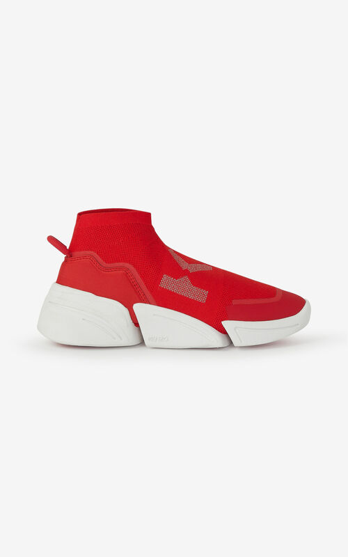 MEDIUM RED K-Sock K Logo laceless sneakers for women KENZO