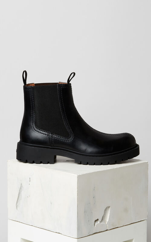 BLACK Chelsea Pike Boots for unisex KENZO