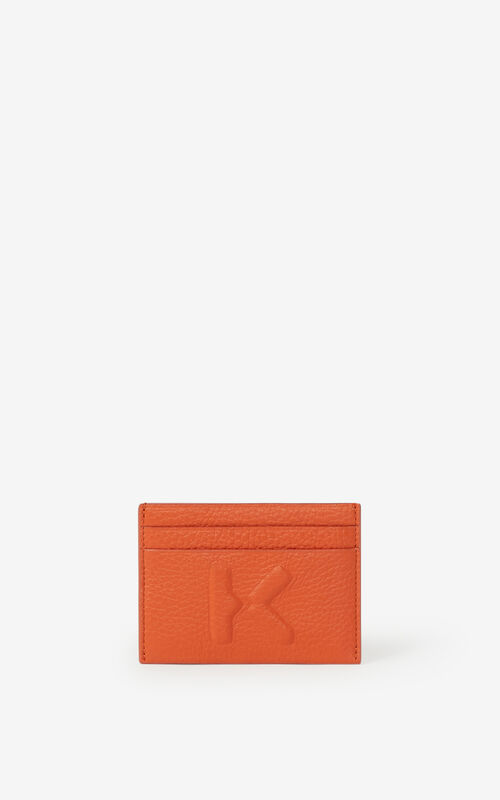 PAPRIKA KENZO Imprint grained leather cardholder for men