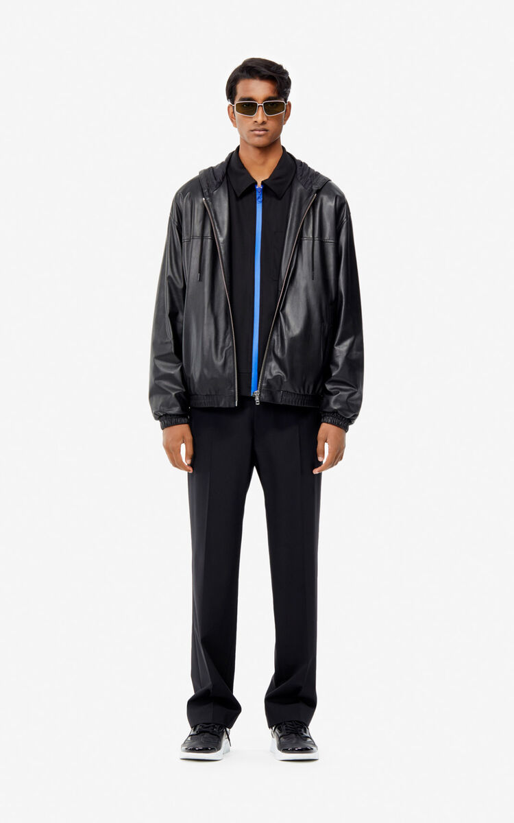 BLACK KENZO Paris jacket for men