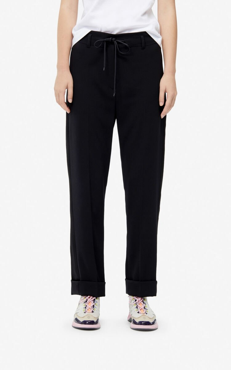 BLACK Cigarette trousers for women KENZO