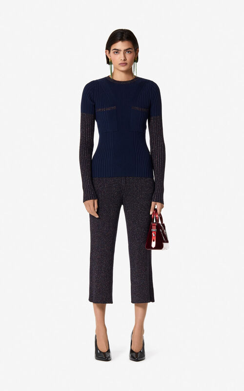 NAVY BLUE Wool jumper for women KENZO