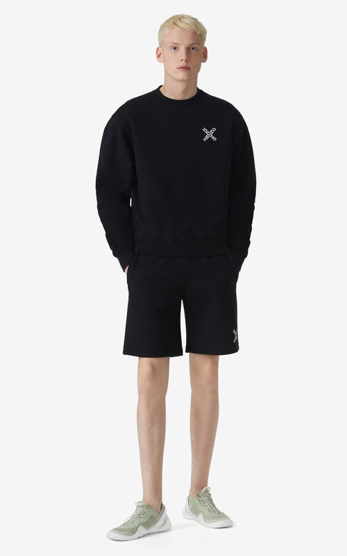 BLACK KENZO Sport 'Little X' sweatshirt for men