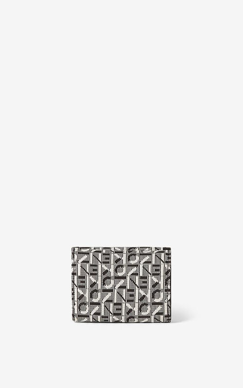 MISTY GREY Courier jacquard mini wallet  for unisex KENZO