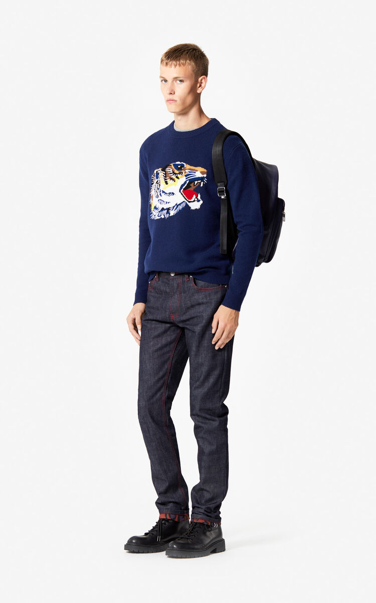 NAVY BLUE 'Tiger Head' jumper 'Go Tigers Capsule' for men KENZO