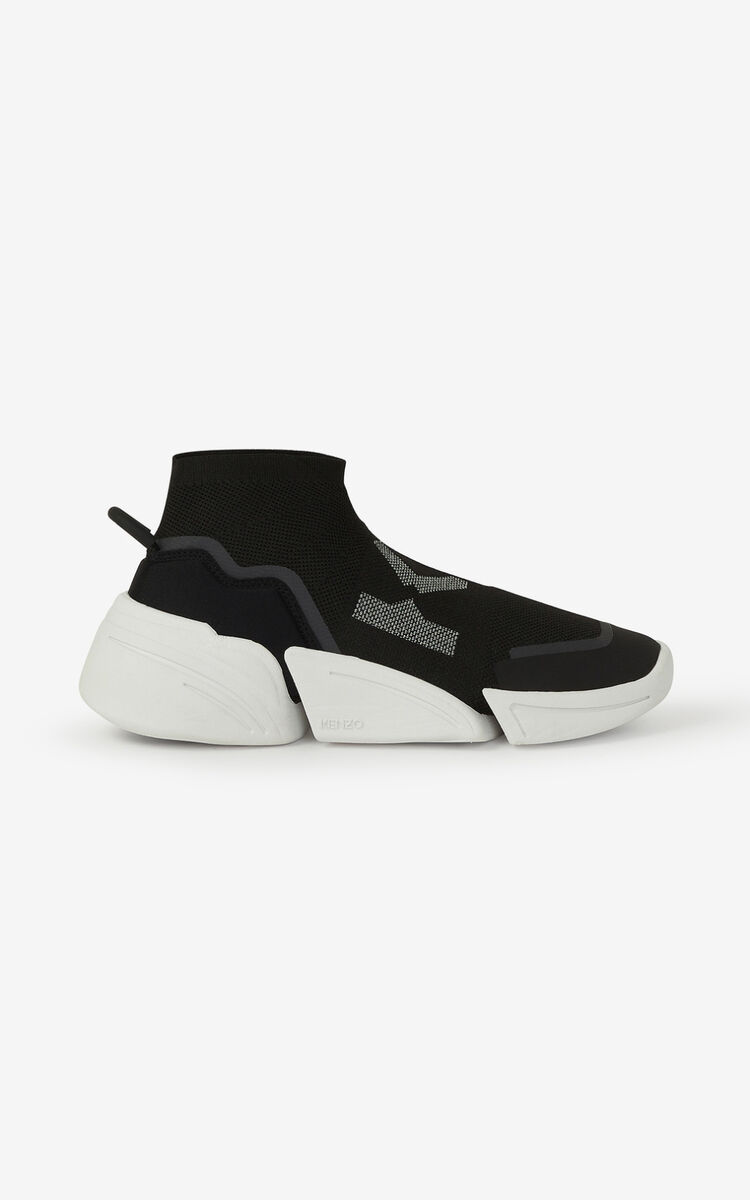 BLACK K-Sock K Logo laceless sneakers for men KENZO