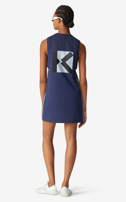 MIDNIGHT BLUE KENZO Sport vest top dress for men