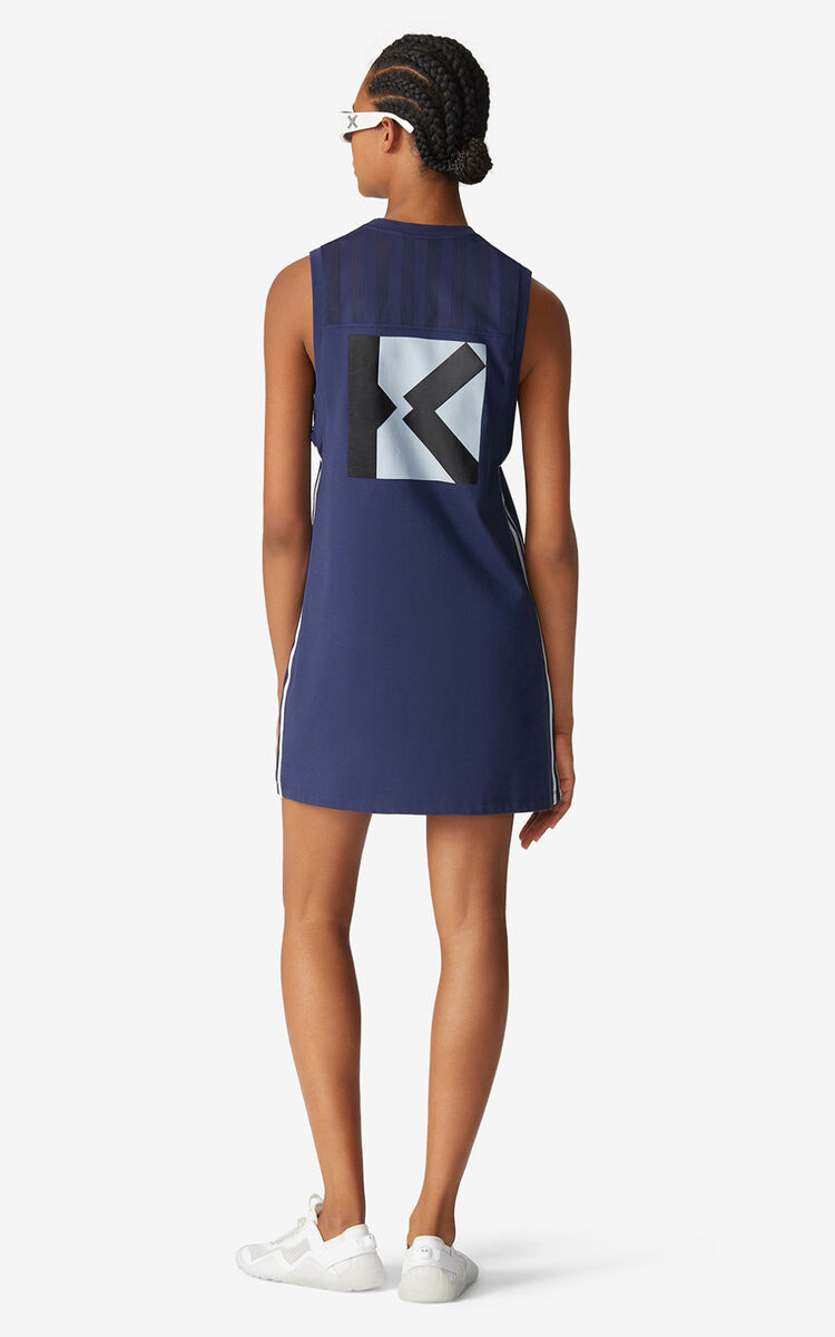 MIDNIGHT BLUE KENZO Sport vest top dress for women