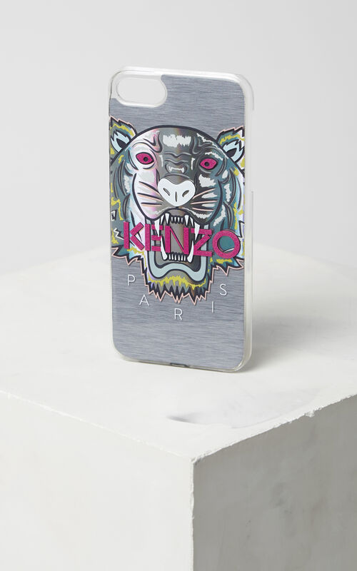 MIDDLE GREY 'Northern Lights' Tiger iPhone 7 case for unisex KENZO