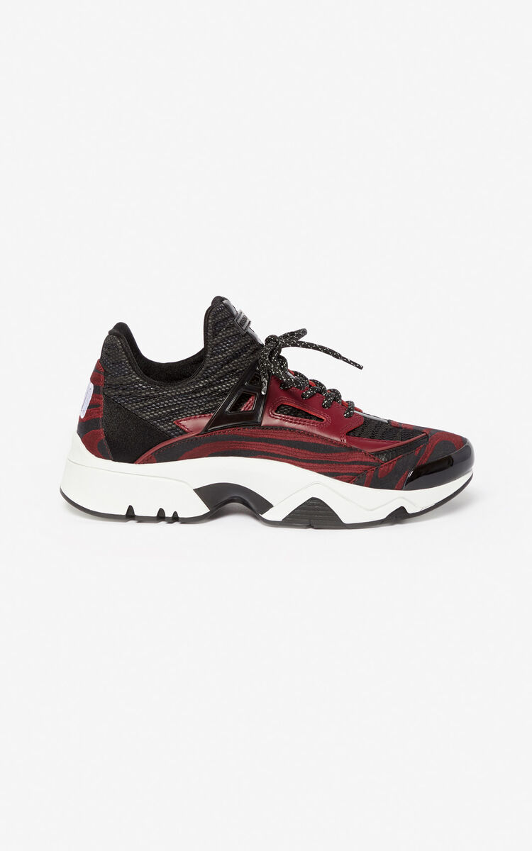 BORDEAUX Sonic 'Moire Tiger' trainers for unisex KENZO