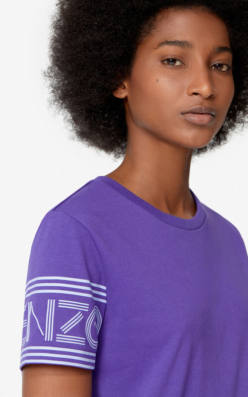 AUBERGINE KENZO Logo t-shirt for women