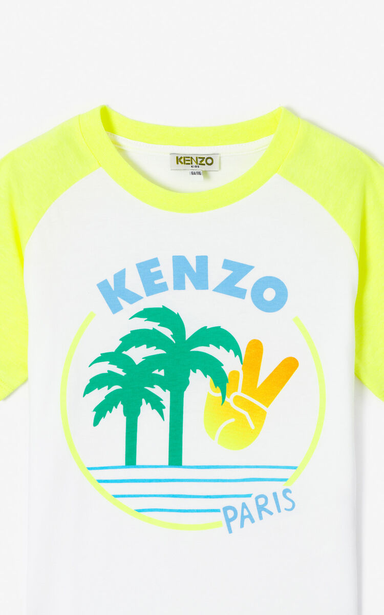 WHITE 'Cali Party' T-shirt. for men KENZO