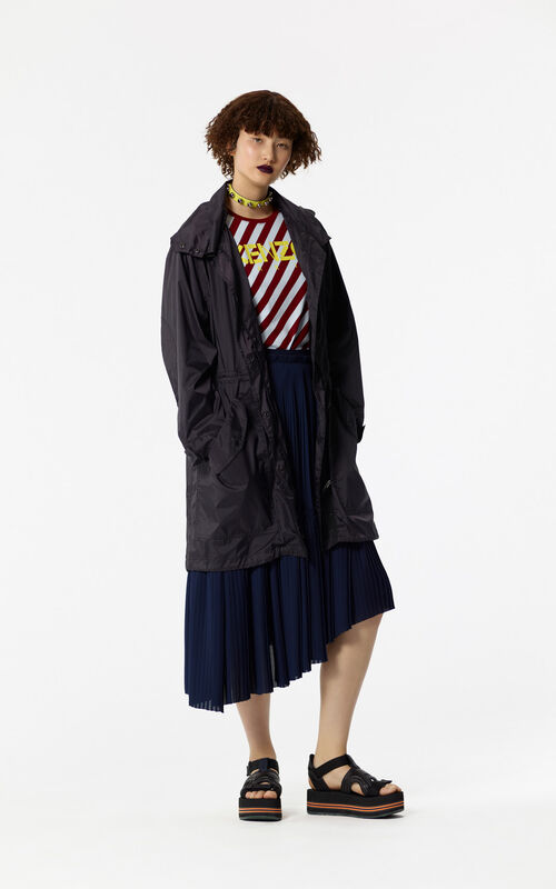 BLACK 'Hyper KENZO' waterproof lightweight parka with hood for women