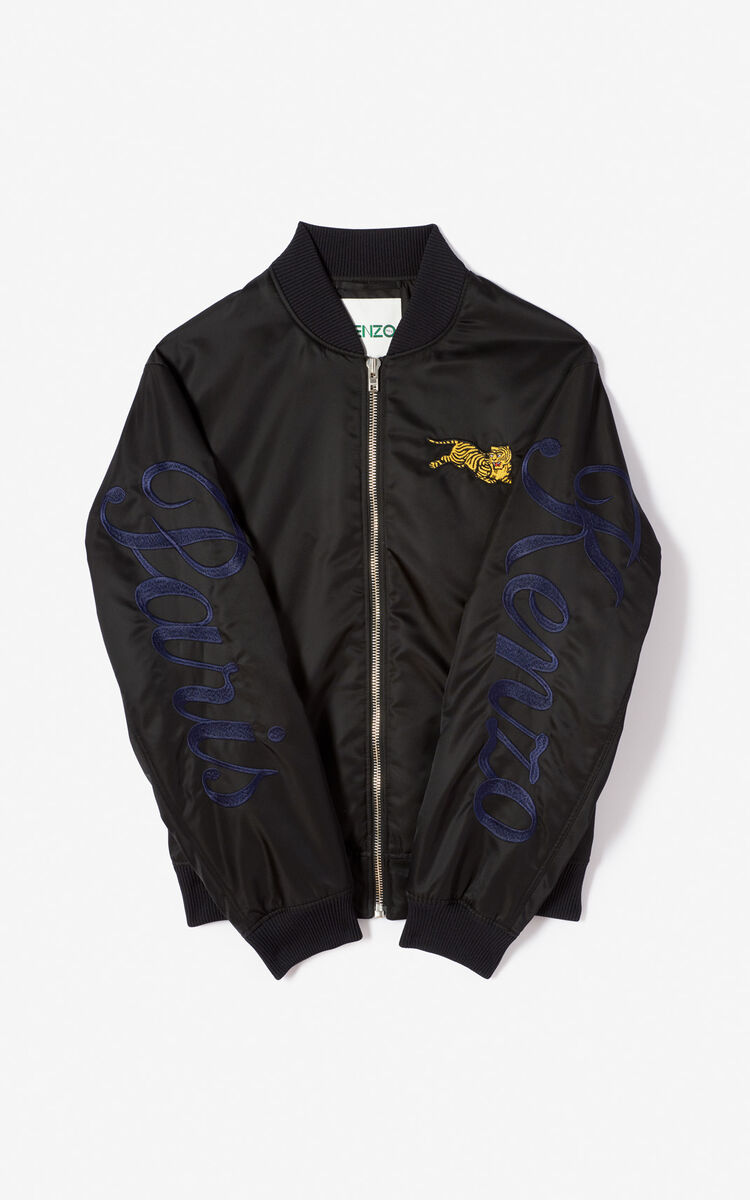 BLACK 'Jumping Tiger' bomber 'Golden Week capsule' for men KENZO