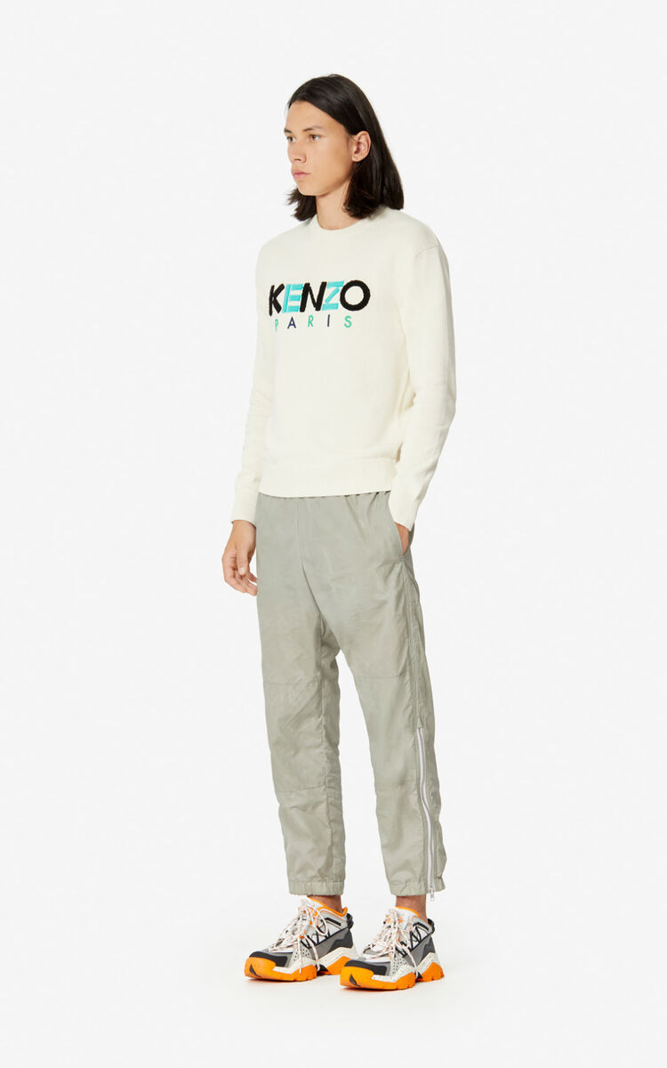 ECRU KENZO Paris wool jumper for men