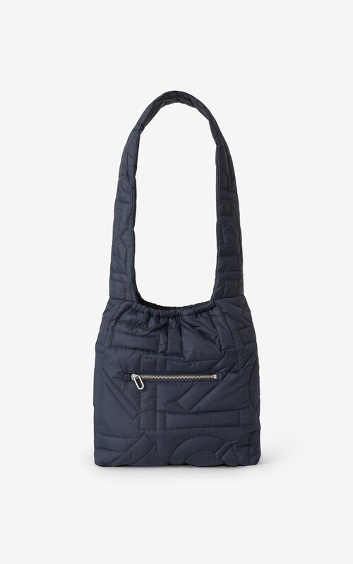 NAVY BLUE Arctik tied tote bag for unisex KENZO