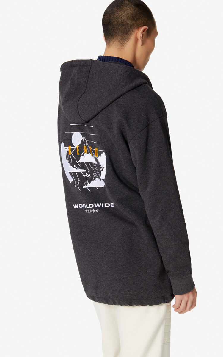 STONE GREY 'KENZO Mountain' hoodie for men