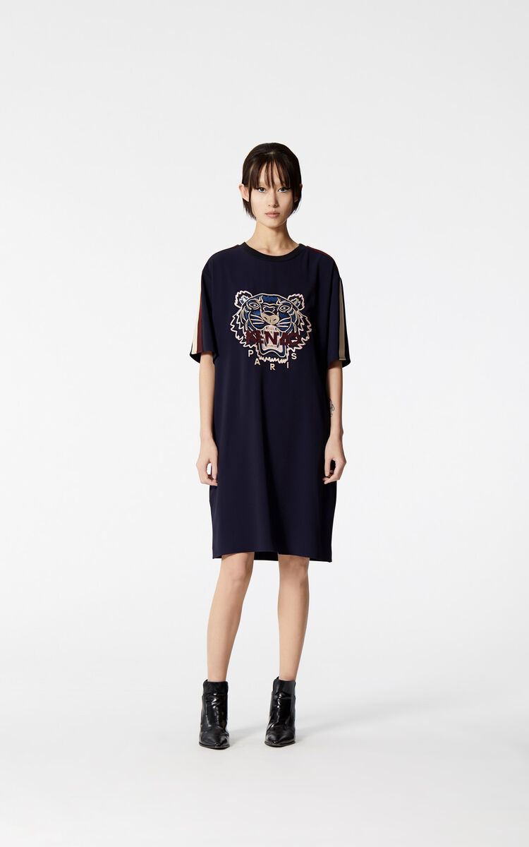 1c5290b64 Tiger crepe dress for WOMEN Kenzo | Kenzo.com