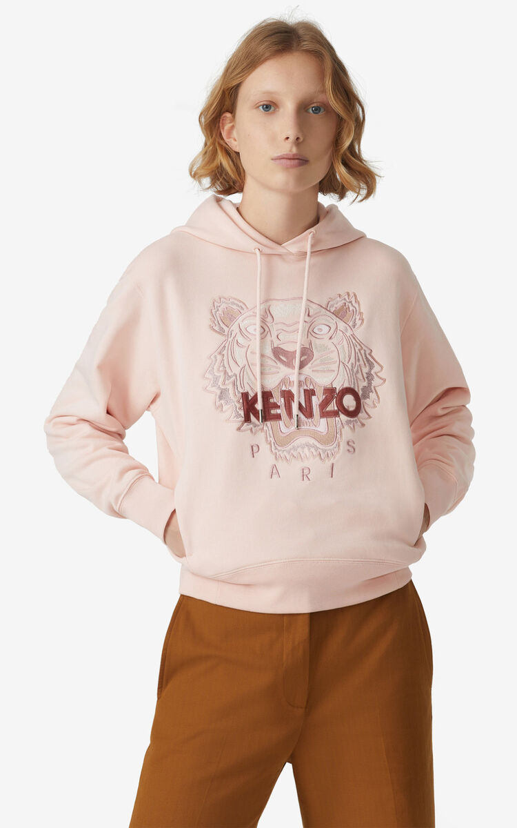 FADED PINK Tiger hoodie for women KENZO