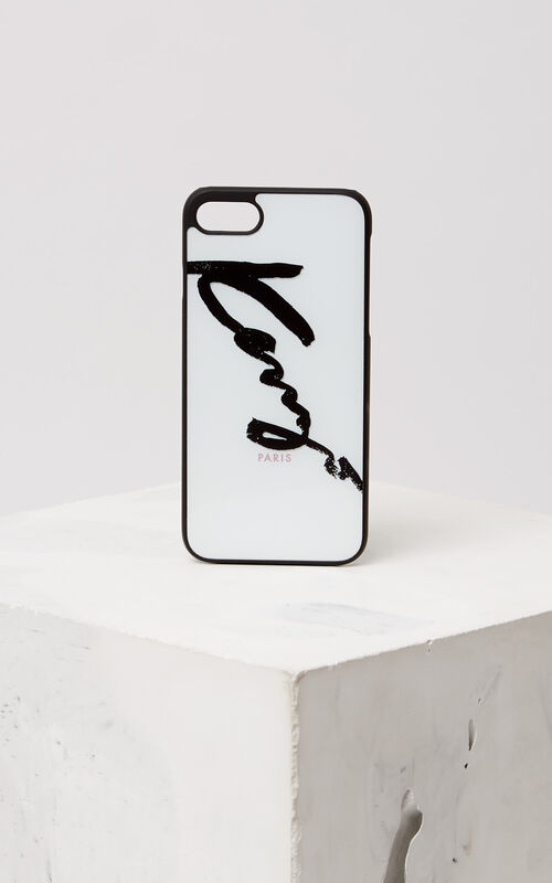 WHITE KENZO Signature iPhone 7/8 case for unisex