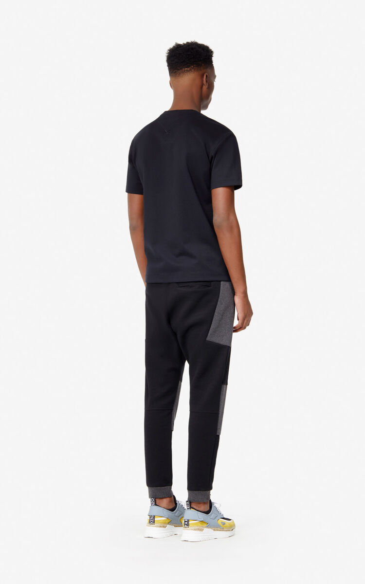BLACK Two-tone jogging trousers for women KENZO