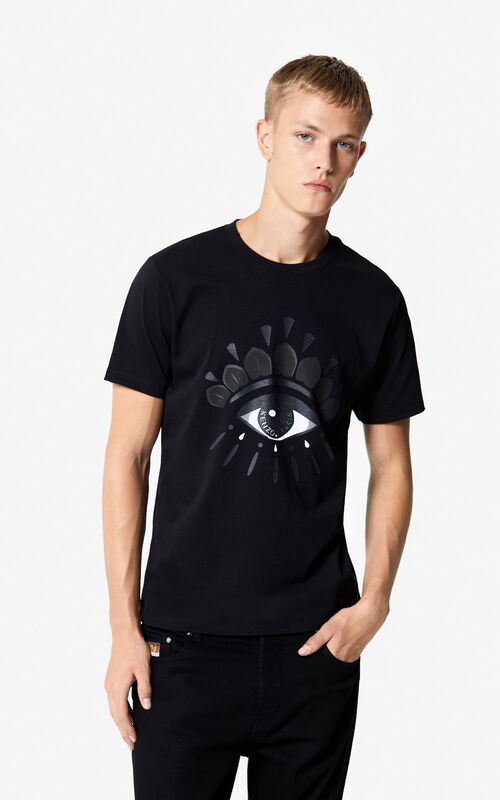 5acbdf2ea983 BLACK Eye t-shirt for men KENZO ...