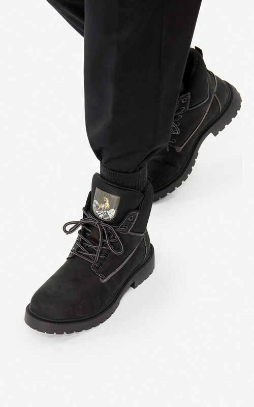 BLACK 'Capsule Expedition' Sierra boots for men KENZO