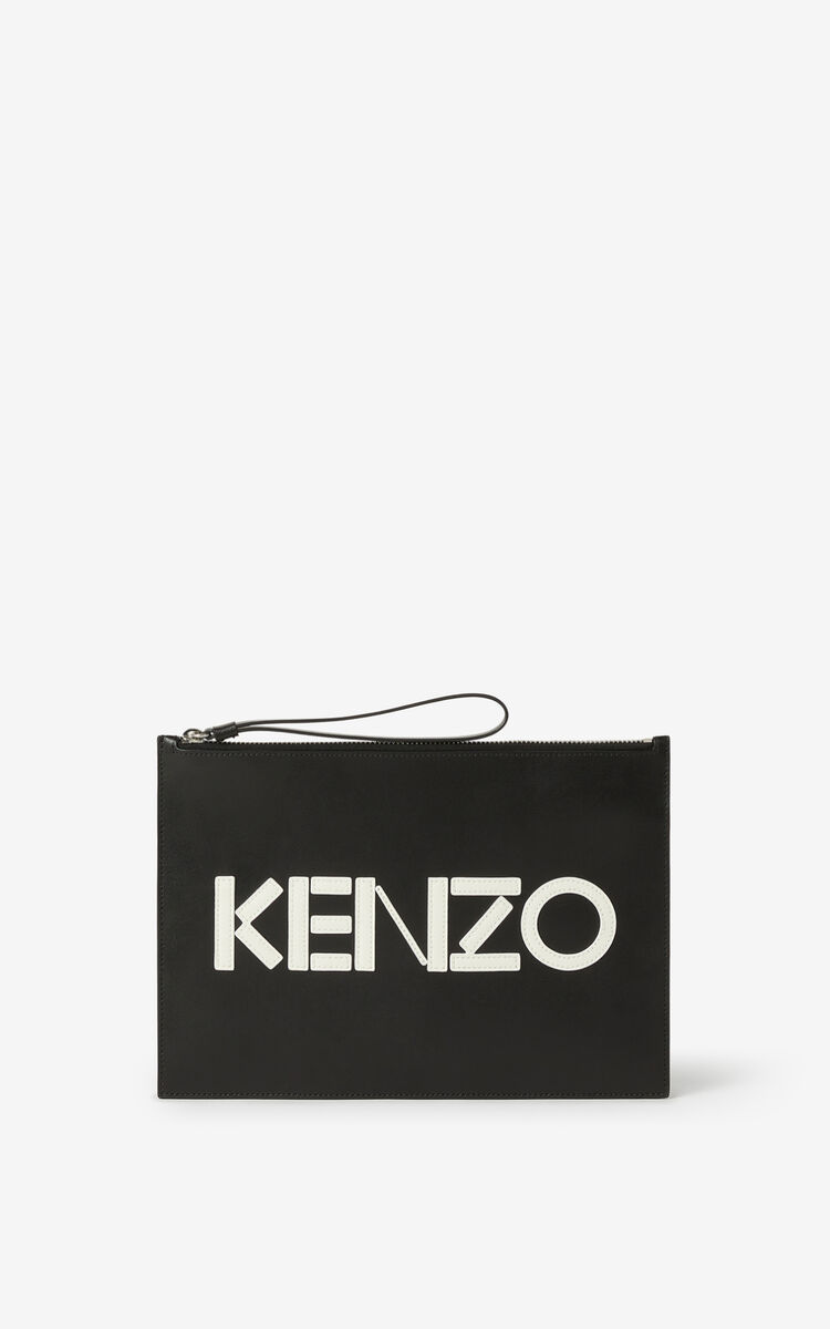 BLACK KENZO Kontrast A4 clutch for men