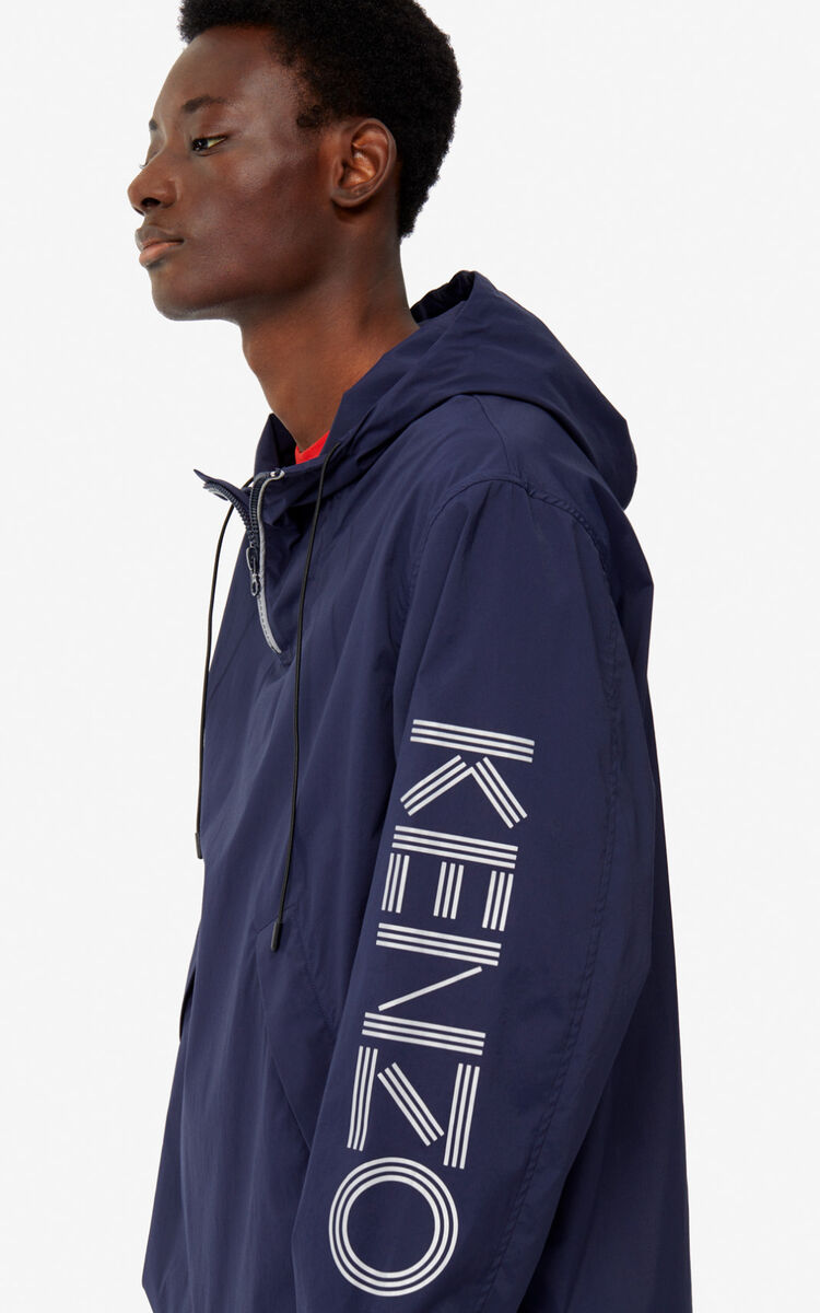 MIDNIGHT BLUE KENZO Logo windbreaker for women