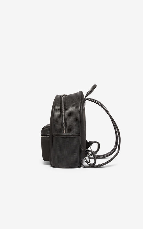 BLACK Neoprene Kombo backpack for unisex KENZO