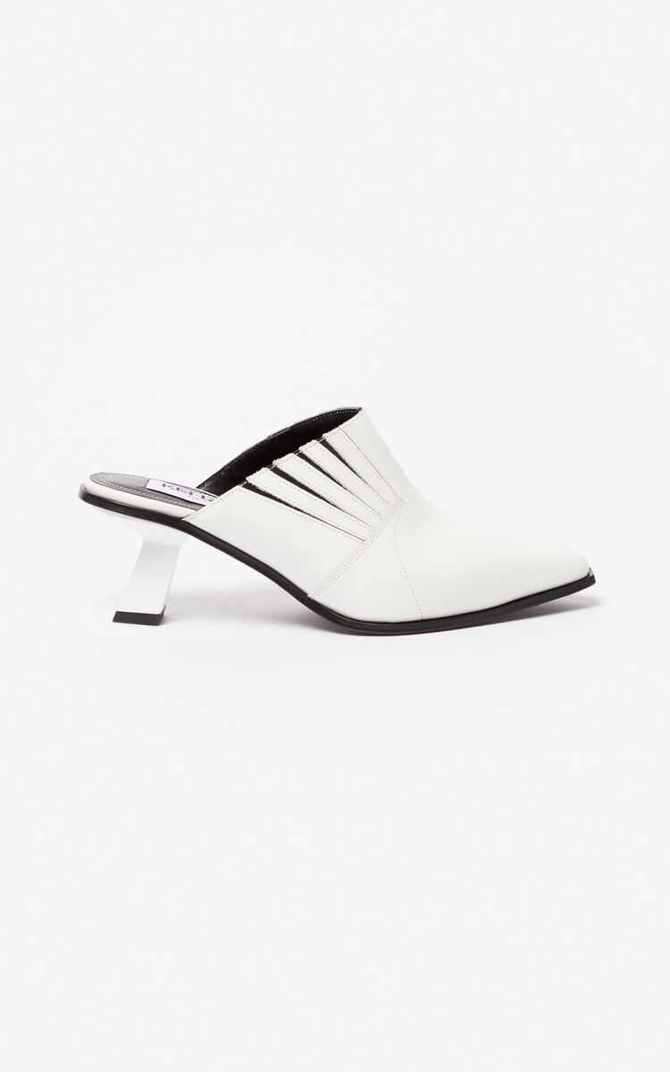 WHITE Rider mules for women KENZO