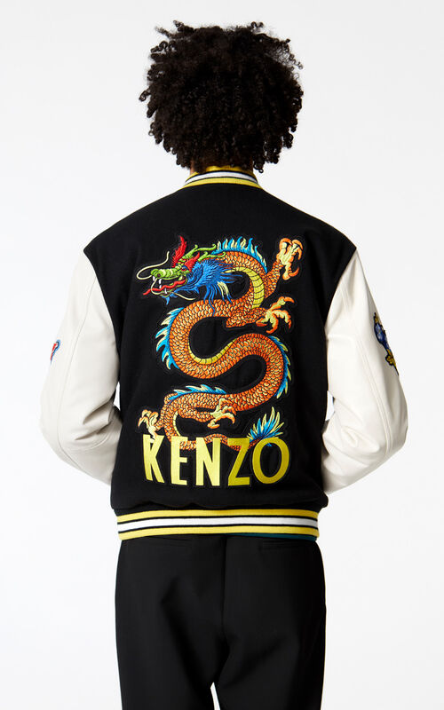 BLACK Varsity jacket for men KENZO