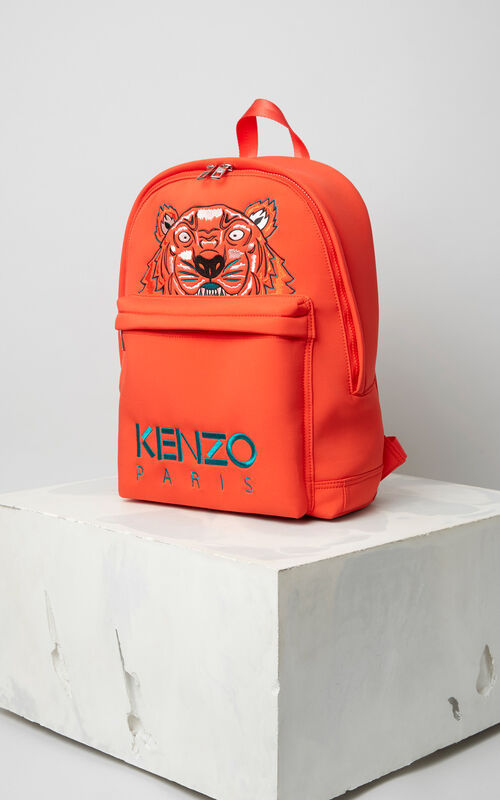 FIRE Large Neoprene Tiger backpack for unisex KENZO