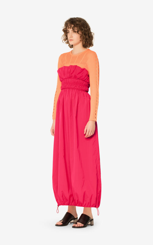 CORAL Strapless maxi dress for women KENZO