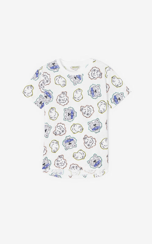WHITE Multi-icon T-shirt for men KENZO