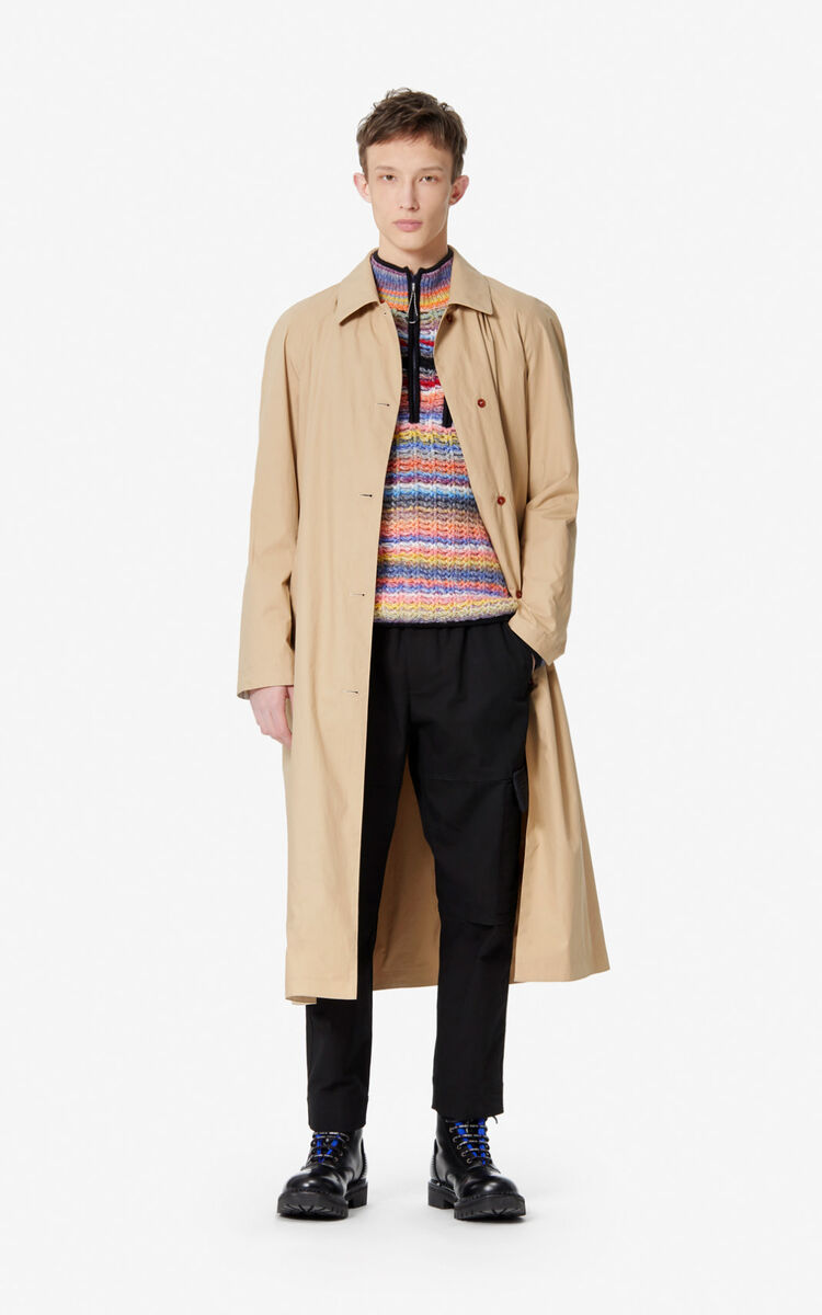 CAMEL Reversible trench coat for men KENZO