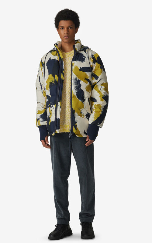 PISTACHE 'Brushed Camo' puffer jacket for men KENZO