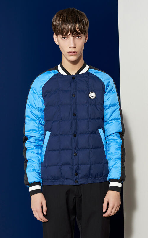 Quilted Bomber Jacket , MIDNIGHT BLUE, KENZO