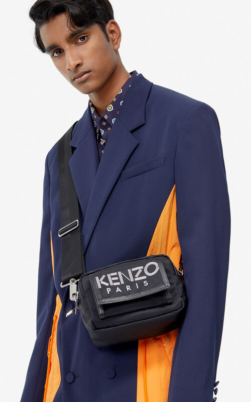 BLACK KENZO Sport shoulder bag for women